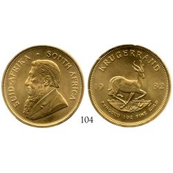 South Africa, krugerrand, 1982, Mint State.