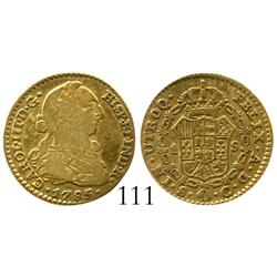 Seville, Spain, bust 1 escudo, Charles III, 1785C.