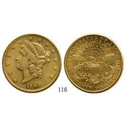 USA (San Francisco mint), $20 Liberty, 1890-S.