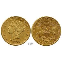 USA (San Francisco mint), $20 Liberty, 1900-S.