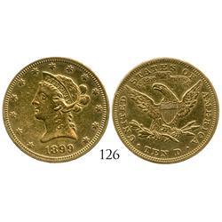 USA (Philadelphia mint), $10 Coronet, 1899.