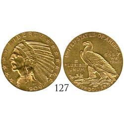 USA (Denver mint), $5 Indian, 1909-D.