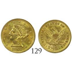 USA (Philadelphia mint), $2-1/2 Coronet, 1901.
