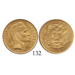 Venezuela, 20 Bolivares, 1912.