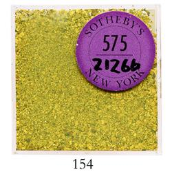 Lot of gold flakes and dust, approximately 40.1 grams, in original Sotheby's packaging.