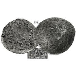 "Large ""tumbaga"" silver disc #M-96, 18.03 lb."