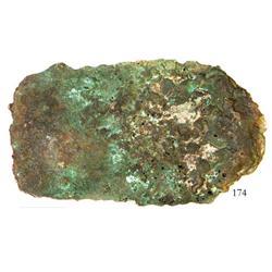 Very large copper ingot #209, 51.5 lb.