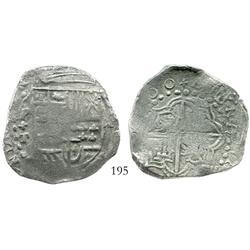 Potosi, Bolivia, cob 8 reales, (162)00T (two 0's in date, a rare error), Grade-1 quality (certificat