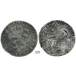 """Overijssel, United Netherlands, """"lion"""" daalder, 1616."""