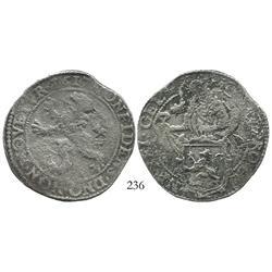 """Gelderland, United Netherlands, """"lion"""" daalder, 1617."""