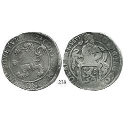 "Westfriesland, United Netherlands, ""lion"" daalder, 1617, rare."