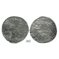"""Gelderland, United Netherlands, half """"lion"""" daalder, 1617, scarce."""