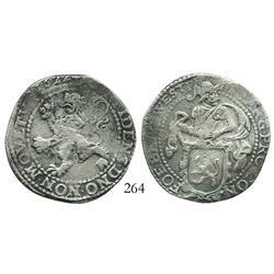 """Westfriesland, United Netherlands, half """"lion"""" daalder, 1622, rare."""