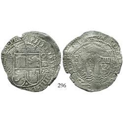 Potosi, Bolivia, cob 8 reales, 1652E transitional Type III.