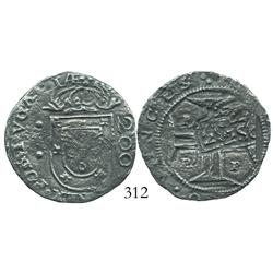 "Brazil, 250 reis (""2S0"" countermarks of 1663 on Porto, Portugal, 200 reis of John IV), rare with mul"