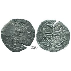 "Brazil, 250 reis (""250"" countermark of 1663 on Lisbon, Portugal, 200 reis of John IV)."