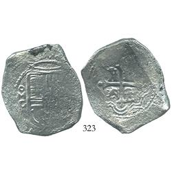 Mexico, cob 8 reales, Philip IV or Charles II, oMG.