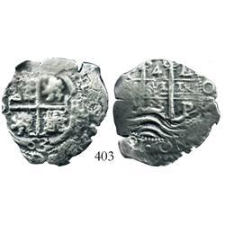 Potosi, Bolivia, cob 4 reales, 1663E.