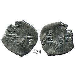 Potosi, Bolivia, cob 2 reales, 1675E.