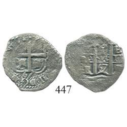 Potosi, Bolivia, cob 1 real, 1667E.