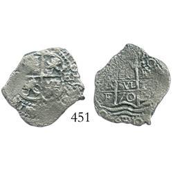 Potosi, Bolivia, cob 1 real, 1670E.