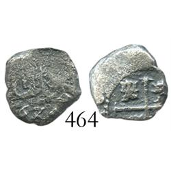 Potosi, Bolivia, cob 1/2 real, 167?, rare denomination from this wreck.