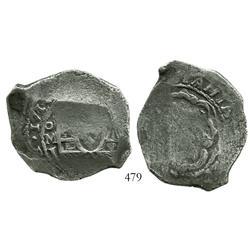 Mexico City, Mexico, cob 8 reales, 1714J.