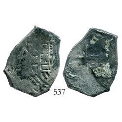 Mexico City, Mexico, cob 4 reales, 1714J.