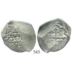 Mexico City, Mexico, cob 4 reales, Philip V, assayer J.
