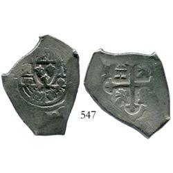 Mexico City, Mexico, cob 4 reales, Philip V, assayer J