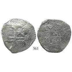 Lima, Peru, cob 8 reales, 1711M, scarce.