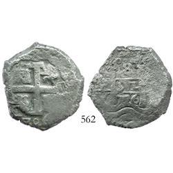 Potosi, Bolivia, cob 8 reales, 1706Y, scarce.