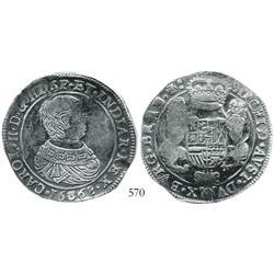 Brabant, Spanish Netherlands (Antwerp mint), portrait ducatoon, Charles II, 1668.