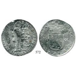 Zeeland, United Netherlands, silver ducat, 1701/693.