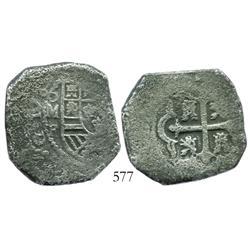 Mexico City, Mexico, cob 8 reales, 173?F.