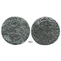 Mexico City, Mexico, pillar 8 reales, (1732-33)(F or MF), rare.