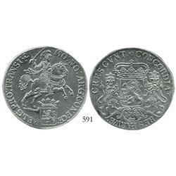 "Overijssel, United Netherlands, ""rider"" ducatoon, 1734, choice."