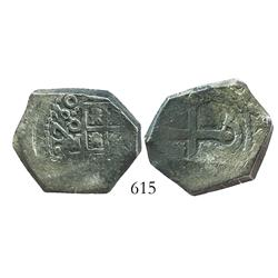 Mexico City, Mexico, cob 4 reales, 1730(R).