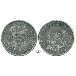Mexico City, Mexico, pillar 8 reales, Philip V, 1735MF, choice.