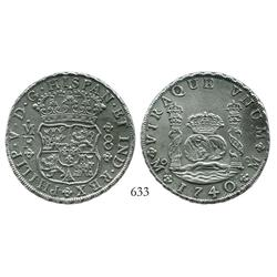 Mexico City, Mexico, pillar 8 reales, Philip V, 174/30MF, choice.