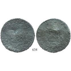 Mexico City, Mexico, pillar 8 reales, Philip V, 1740MF, uncleaned.