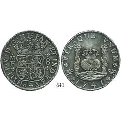 Mexico City, Mexico, pillar 8 reales, Philip V, 1741MF, very choice.