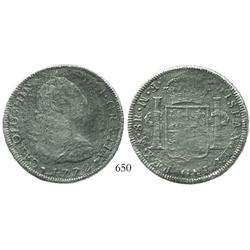 Mexico City, Mexico, bust 8 reales, Charles III, 1772FM (initials facing rim), rare provenance.