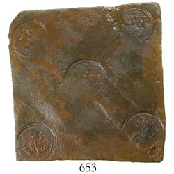 "Sweden (Avesta mint), copper ""plate money"" 1 daler, Fredrik I, 1748."