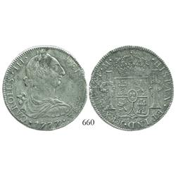 Mexico City, Mexico, bust 8 reales, Charles III, 1777FM.