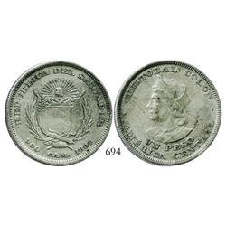 El Salvador, 1 peso, 1894CAM.