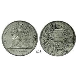 Guatemala, 1 peso, 1894-H.
