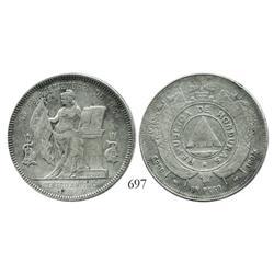 Honduras, 1 peso, 1894/892 (open 4).