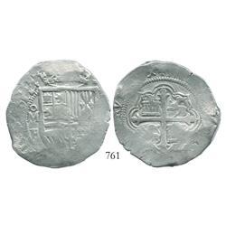 Mexico City, Mexico, cob 8 reales, (1)612/1F, rare.