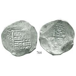 Mexico City, Mexico, cob 8 reales, (16)21/0D.